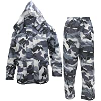 Noxus Men's Rain Suit Camouflage Rain Jacket and Pants Rainwear Sets Rainsuit