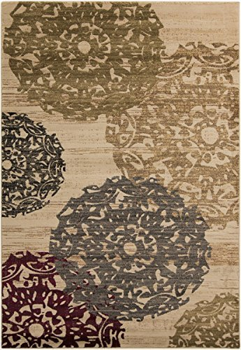 Surya RLY5051-455 Machine Made Traditional Accent Rug, 4 by 5-Feet 5-Inch, Butter/Beige/Gray/Burgundy/Black/Olive by Surya (Surya Olive)
