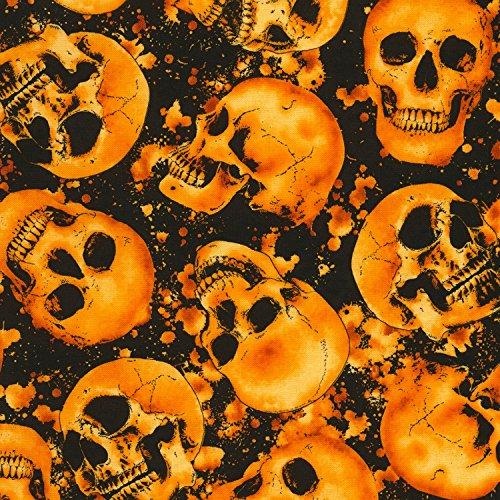 Timeless Treasures Totenkopf Stoff Skulls Halloween–tt145–von 0,5Meter–100% Baumwolle