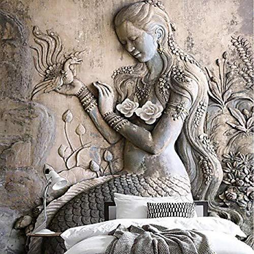 Tapete/Wandbild/Wandtuch Leinwand Wandverkleidung - Klebstoff erforderlich Art Deco / 3D / Engel@312 cm * 219 cm
