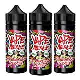 Multipack 3x 100ml Strawberry Chew Candy Eliquid Max VG 80/20 Cloud Chaser Vape