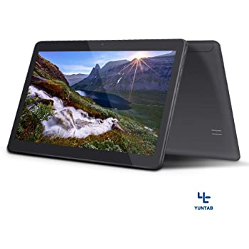 Yuntab 3g tablet 10.1 Pollici K107 new Quad Core tablet pc Android 5.1 1,3 GHz IPS due Sim Schede Dual fotocamera 16 GB ROM GPS WiFi phablet per Internet e appello 5000 mAh batteria (Nero)
