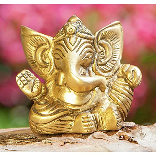 Ganesha 5,5 cm Messing antik Statue - Esoterik Zubehör günstig kaufen