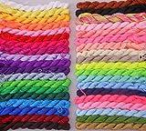 Chengyida 18de couleurs différentes en nylon chinois Nœud macramé Shamballa Perles Bracelet cordon Corde de filetage (80Pieds 1mm)