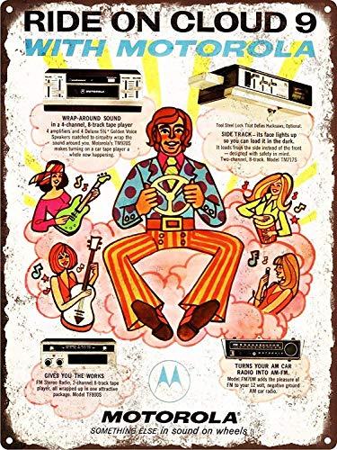1971 Motorola 8-Track Psychedelic Car Stereo Retro Wandkunst Garage Club Bar Dekoration (Club Car Stereo)