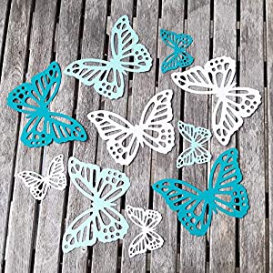 10 Schmetterlinge aus hochwertigem Fotokarton als Wanddeko Deko für die Fenster oder als Tischdeko Geschenkanhänger zum…