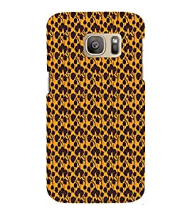 Abstract Floral 3D Hard Polycarbonate Designer Back Case Cover for Samsung Galaxy S7 Edge :: Samsung Galaxy S7 Edge Duos G935F