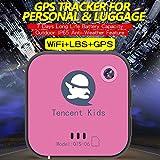 TENCENT Kids PET Tracker GPS GSM WIFI GPRS Tracking collar, 500mAh personal para niños gato mascota perro y coche con mapa de Google & sos botón de pánico alarma (Rosa)