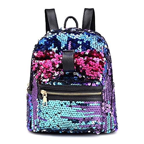 Kimruida mini glitter zaino borsetta carino fiocco borsa a tracolla da  viaggio per ragazze con paillettes ea19801be08