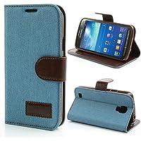 Samsung Galaxy S4 Active Hülle Klapphülle von NICA, Slim Flip-Case Kunst-Leder Vegan, Etui Schutzhülle Book-Case, Dünne Vorne Hinten Handy-Tasche Wallet Bumper für Samsung S4 Active - Hell Blau