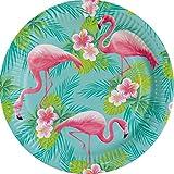 amscan 9903325 Flamingo Paradise Teller, Mehrfarbig, 23 cm