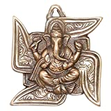 #10: APKAMART Lord Ganesh Wall Hanging - Ganpati Seated on Swastik - 6 Inch - Wall Showpiece for Wall Decor, Room Decor, Home Decor and Gifts