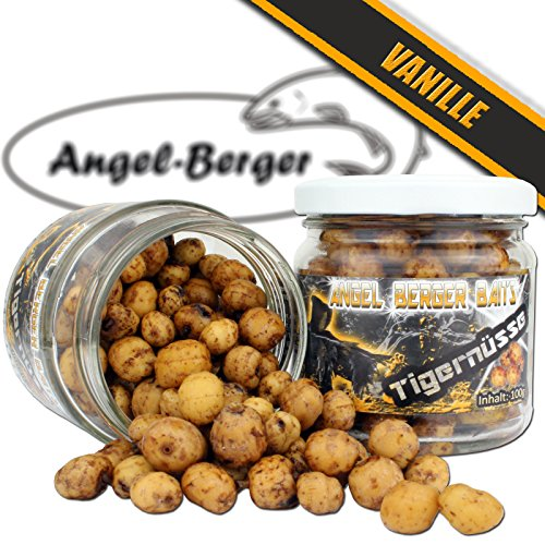 Angel Berger Baits Tigernüsse verschiedene Sorten Tigernuts Tigernuss im Glas (Vanille)