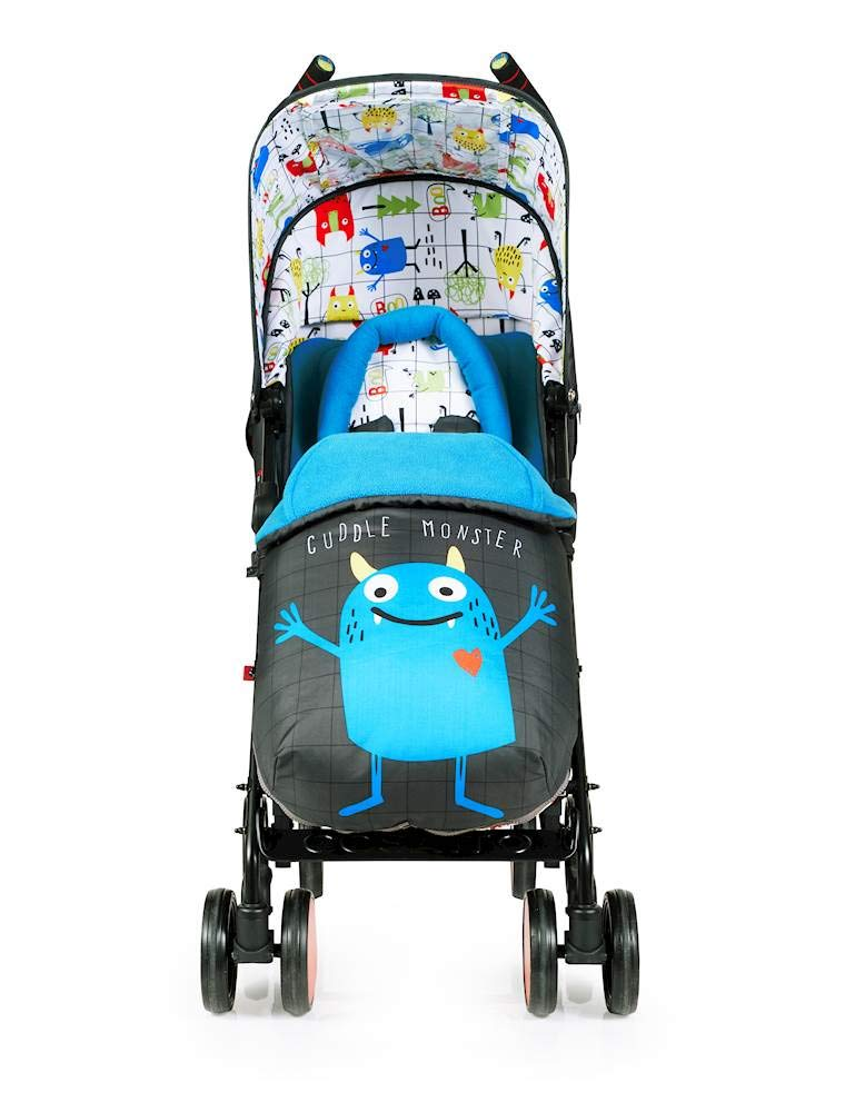 Cosatto Supa 2018 Baby Stroller, Suitable from Birth to 25 kg, Monster Mob Cosatto Suitable from birth up to 25 kg stroller; umbrella fold lightweight aluminium chassis with carry handle and folded free-standing feature For added comfort Supa 2018 has an integral upf100+ extended hood; one handed four position seat recline and adjustable calf support Supa 2018 has everything you need: Spacious storage basket, co-ordinating fleece lined footmuff, reversible washable liner, chest pads and recent born head hugger, rain cover and handy cup holder 6