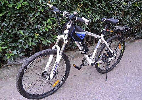 West Radfahren Fahrrad Front Tube Rahmen Tube Gepäcktasche Doppel Tasche für 10,7cm/12,2cm/14cm/15,2cm Plus Zoll Handy blau