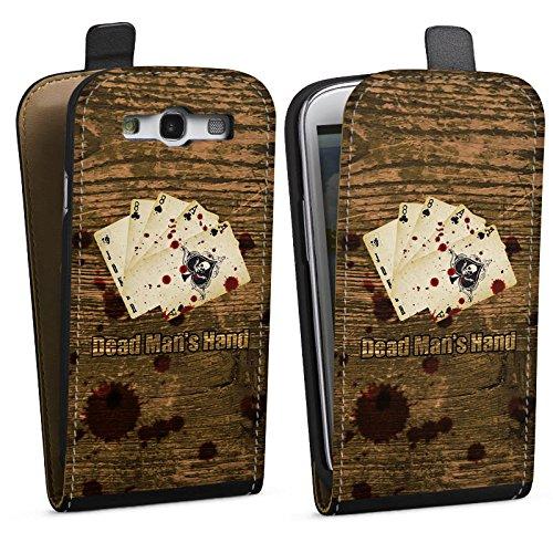 DeinDesign Tasche kompatibel mit Samsung Galaxy S3 Flip Case Hülle Cards Karten Herz -