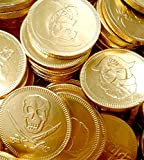 Milk Chocolate Gold Pirate Coins 1kg Bag (Approx 180 coins)