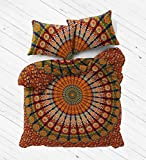 Parure de lit Labhanshi - Housse de couette Doona avec taies d'oreiller Mandala - Style bohémien