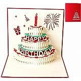 Biglietti augurali Compleanno, Deesospro® regalo di compleanno per i tuoi parenti, amici e amanti, biglietto di auguri pop-up