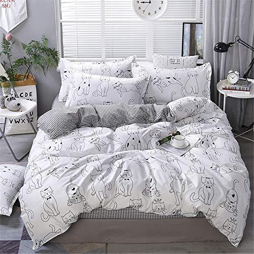 YUNSW Baumwolle Bettbezug Erwachsene Kinder Schlafzimmer Twin Voll Königin König Bettwäsche Bettbezug Tröster Abdeckung Bettwäsche Eine 180x220 cm -
