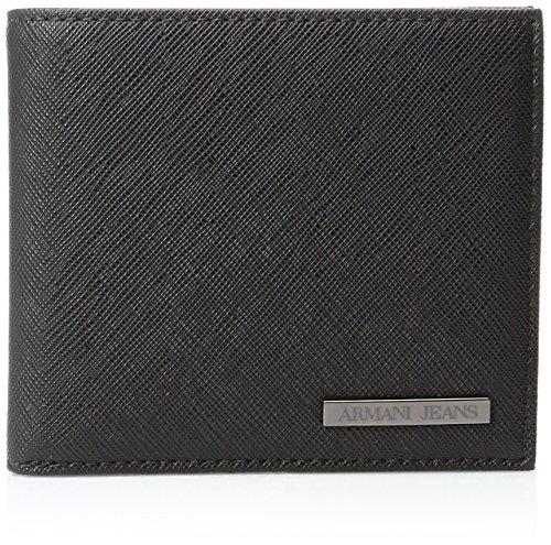 Armani Jeans Portafoglio con placca logo Nero Unica Taglia