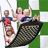 Große Mehrkindschaukel STANDARD weiß/grün für 4 Kinder, 136 x 66 cm (SPR.L.121) - das Original direkt vom Hersteller die-schaukel.de