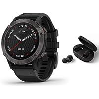 Garmin Fenix 6 Pro Sapphire GPS Multisport Watch Black with Bluetooth Headset