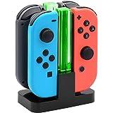 FYOUNG 4 en 1 LED JoyCon Cargador para Nintendo Switch