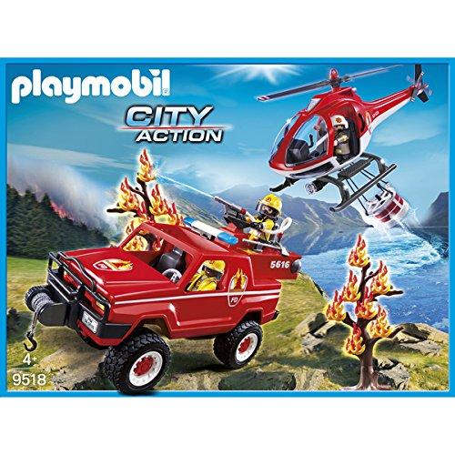 euerwehr-Waldbrandeinsatz Spielfiguren Set, Mehrfarbig ()