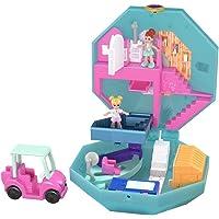 Polly Pocket Coffret Univers Journée au Spa, 2 mini-figurines, accessoires, autocollants et surprises cachées, jouet…
