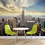 Stadt Skyline Empire State New York - Forwall - Fototapete - Tapete - Fotomural - Mural Wandbild - (2317WM) - XXXL - 416cm x 254cm - VLIES (EasyInstall) - 4 Pieces