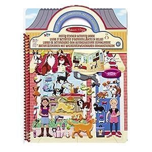 Melissa & Doug- Libro de Actividades con Autoadhesivos Esponjosos, Multicolor (19429)