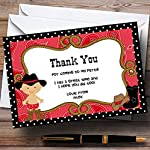 Cute Cowboy Personalised Birthday Party Thank You Cards