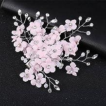 symboat matrimonio nuptiale lato pinza per capelli cristallo fiore testa  donne capelli accessori