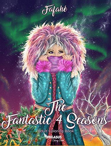 Adult coloring book: The Fantastic 4 Seasons