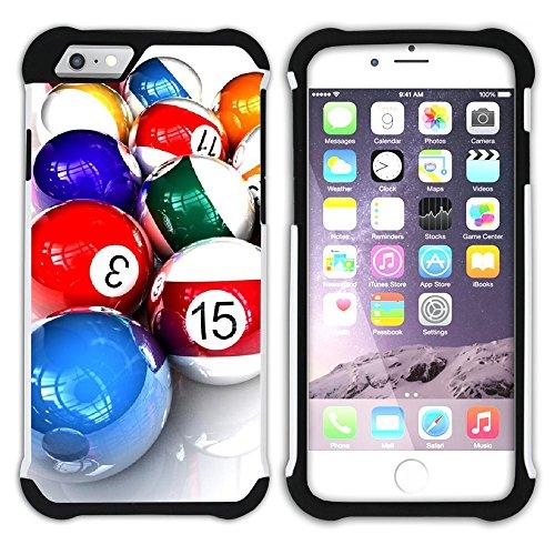 """Graphic4You Billard Billardspiel Kugel """"8 Ball"""" Hart + Weiche Kratzfeste Hülle Case Schale Tasche Schutzhülle für Apple iPhone 6 / 6S Design #6"""