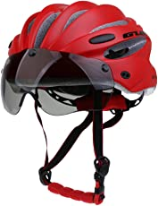 Segolike Professional Stable Road/Mountain Bike Cycling Helmrt MTB CyclingHelmets with Air Attack Eye Shield Helmet Visor for Mens Womens