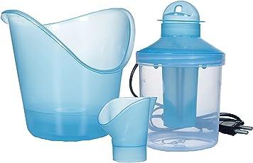 HomeFast 3-in-1 Plastic Vaporizer, Sauna, Nose Steamer and Inhaler (Small, Multicolour)