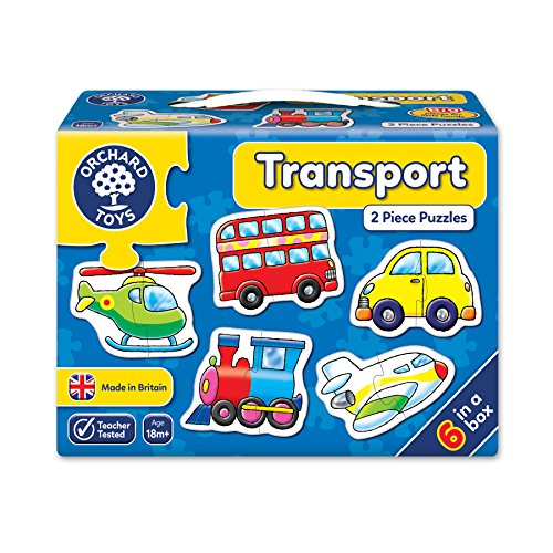 Orchard_Toys - Puzle Infantil, diseño de transportes