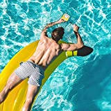 Alger Wasser-sich hin- und herbewegendes Bett-Strand-Klubsessel-aufblasbares sich hin- und herbewegendes Wasser-Spielzeug-Wasser-Hängematten-Swimmingpool, Banane, 180 * 160cm