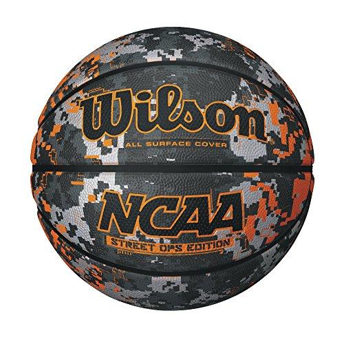 WILSON NCAA Street OPS Camo/Orange Basketball, Offizielle Größe (Wilson Nfl Offizielle Größe Football)