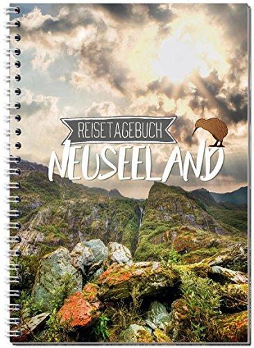 Reisetagebuch Neuseeland zum Selberschreiben / Notizbuch A5 Ringbuch mit 120 Seiten / Packliste, Reiseplan, Zitate, Fun Facts, spannende Reise-Challenges - Von Sophies Kartenwelt