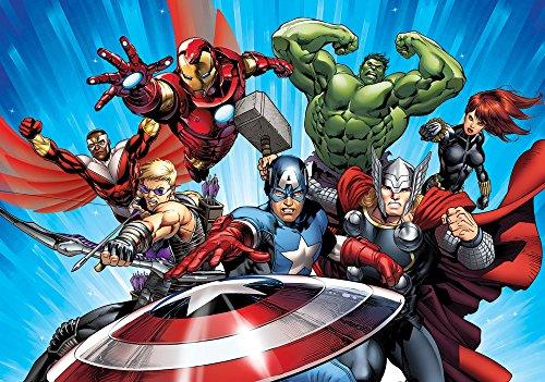 apete Photomural Marvel Avengers, 1 Stück, 963P8 (Captain America-dekor)