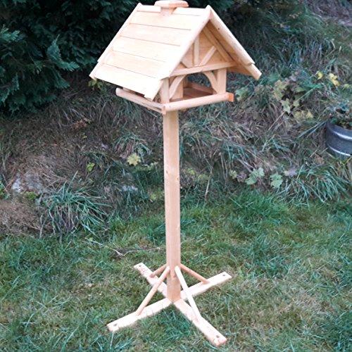 Vogelhaus Schreinerarbeit Futterhaus Vogelhäuschen --Wetterschutz-- K 75 Holz Vogelhäuser mit Einbein Ständer