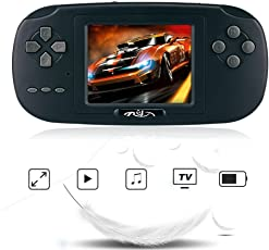 "Game Handheld Console,Rongyuxuan Game Console 2.8""LCD PVP PLUS Game Player Classic Handheld Game Console 168 games in 1 USB Charge Birthday Christmas Gift for Children"