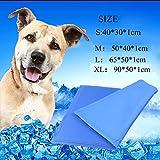 Pet Kühlkissen Pet Dog Cat Kühlung Pad Selbstkühlender Sommer Kühlung Cold Gel blau Matte m