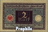 Deutsches Reich Rosenbg: 65a, Druckfarbe braun, rotes Siegel gebraucht (III) 1920 2 Mark (Banknoten für Sammler)
