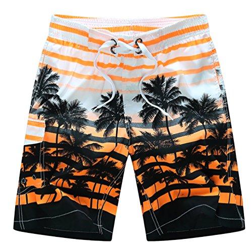 YOUJIA Uomo Costume Da Bagno Avere Tasca Pantaloncini Da Mare Bermuda Shorts