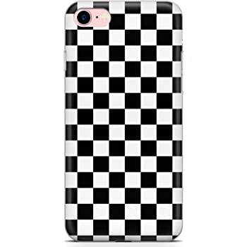 cheaper 7c69c 59ce4 Case Warehouse iPhone 7 Case, iPhone 8 Case, Black Checkered Phone Case  Clear Ultra Thin Lightweight Gel Silicon TPU Protective Cover |  Checkerboard ...