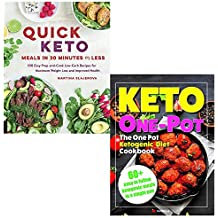 Quick keto meals in 30 minutes or less and keto one pot diet collection 2 books set